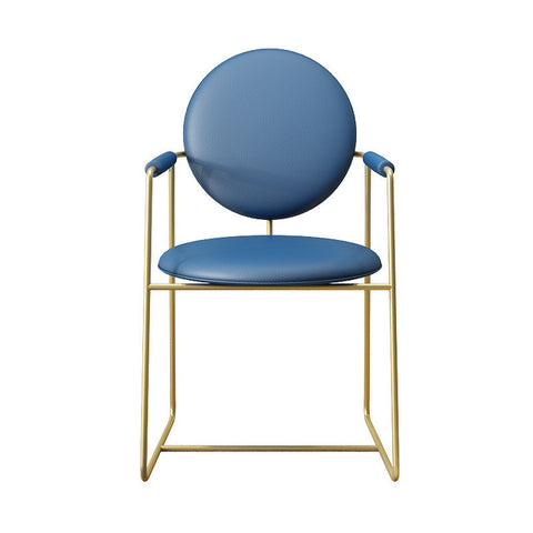 Chaise Scandinave Fer Forgé Bleu