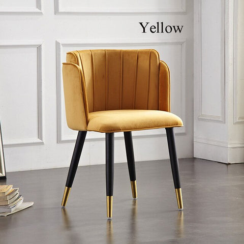 Chaise Scandinave Jaune Luxueuse