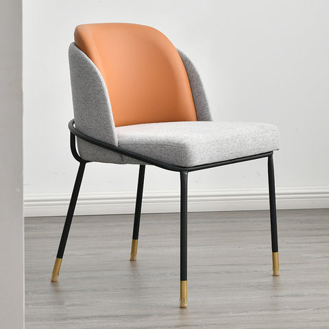 Chaise Scandinave Somptueuse Grise Orange