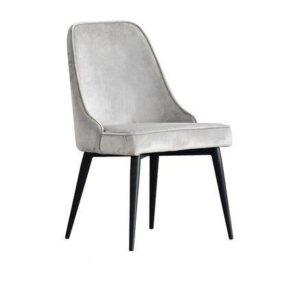 Chaise Scandinave Moderne Grise Argent