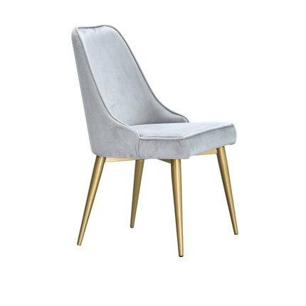 Chaise Scandinave Moderne Grise Perle