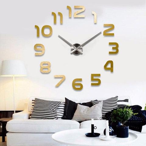 Horloge Scandinave 3D Or | Chaises Scandinave