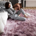 Tapis Scandinave Shaggy Rose Violet | Chaises Scandinave