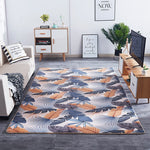 Tapis Scandinave Feuille Orange et Grise | Chaises Scandinave