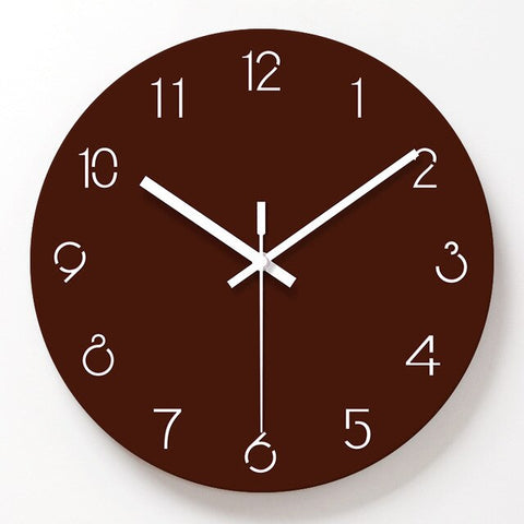 Horloge Scandinave Essentiel Marron