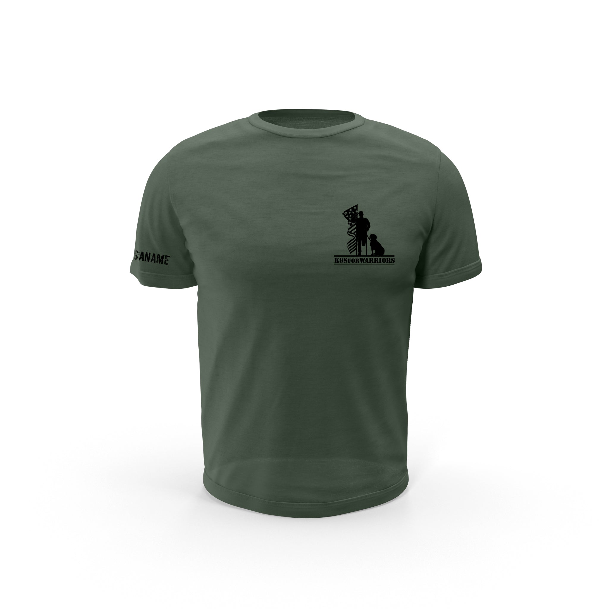 Dog Tag Flag T-Shirt (Military Green)