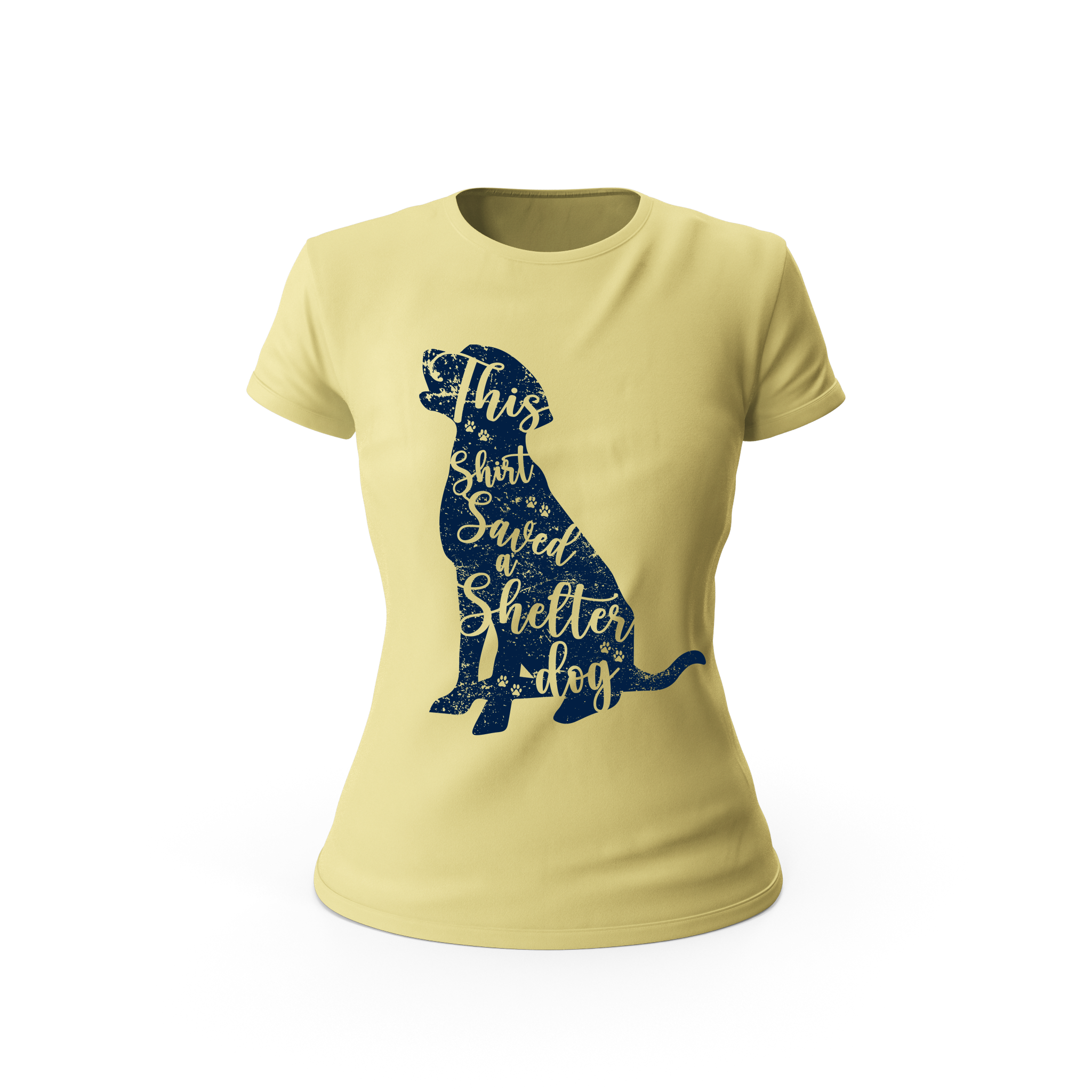 Saved a Shelter Dog Ladies Shirt (Yellow)