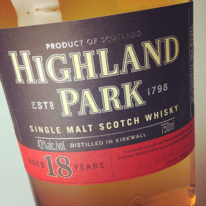 Highland Park Single Malt Scotch Aged 18 Years