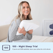 Core® Posture Pillow with Contour Memory Foam for Neck Pain - for Side Sleepers, Back and Stomach Sleepers (Free Pillowcase Included)
