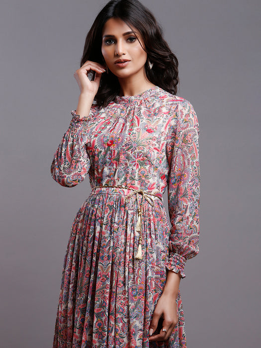 PAISLEY GATHERED PARTY DRESS