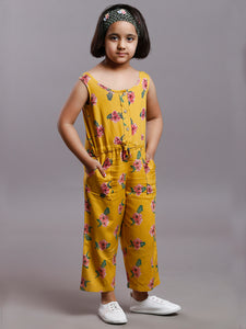 CORN YELLOW TROPICAL JUMPSUIT