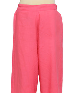 ROSE PINK ELASTICATED STRAIGHT PANTS