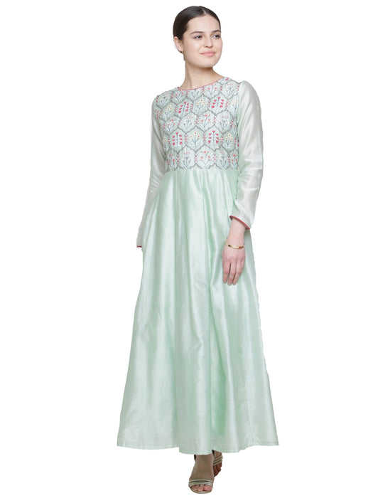 MINT EMBROIDERED ANARKALI