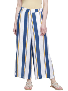 NAVY YELLOW SLUB STRIPE PANTS