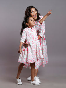 FLORAL SIDE TIE DRESS- DAUGHTERS
