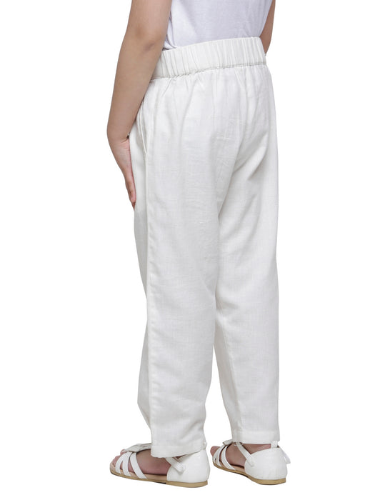 TAPERED HEM PLEATED PANTS- DAUGHTERS