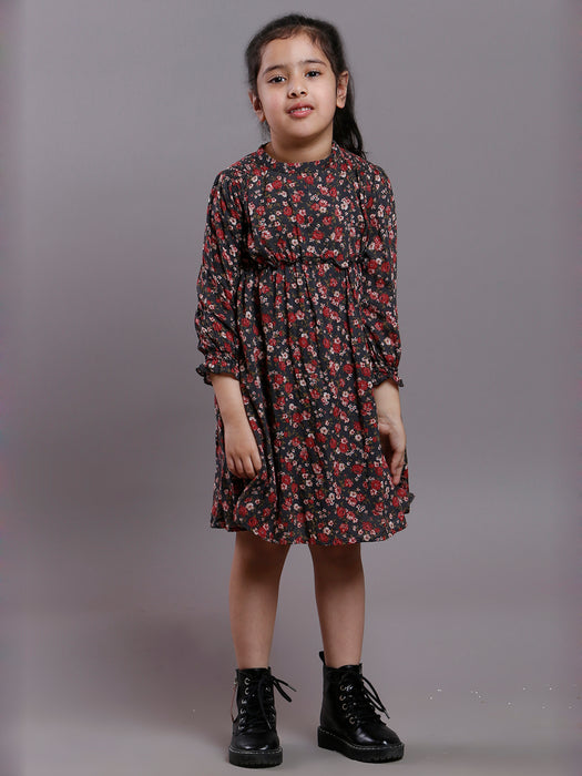 VINTAGE FLORAL GATHERED DRESS- DAUGHTERS