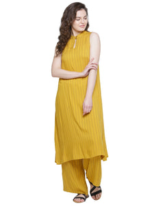 YELLOW STRIPE CO-ORD SET