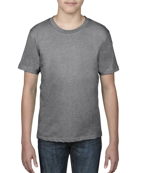 Anvil Youth Tee - Heather Graphite