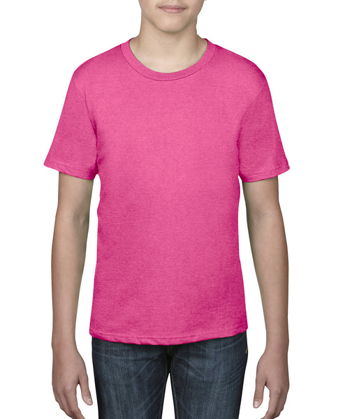 Anvil Youth Tee - Neon Pink / Hot Pink