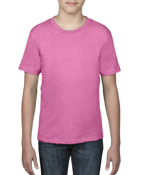 Anvil Youth Tee - Heather Hot Pink