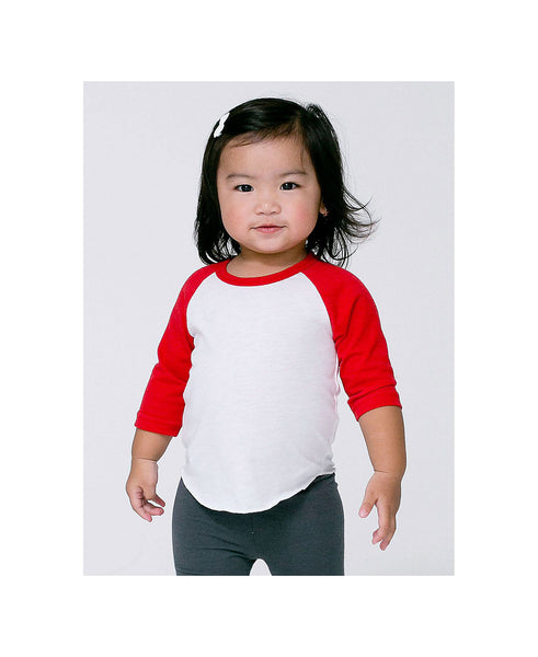 American Apparel Raglan - Red Sleeve