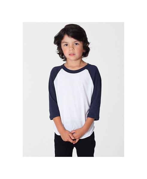 American Apparel Raglan - Navy Sleeve