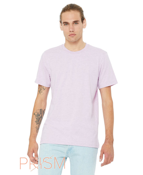Bella + Canvas Unisex Crew Tee - Heather Prism Lilac
