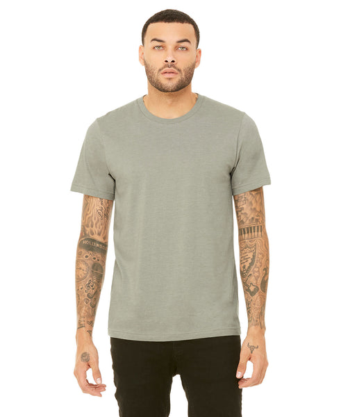 Bella + Canvas Unisex Crew Tee - Heather Stone