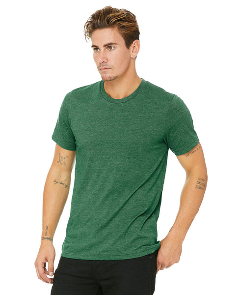 Bella + Canvas Unisex Crew Tee - Heather Grass Green