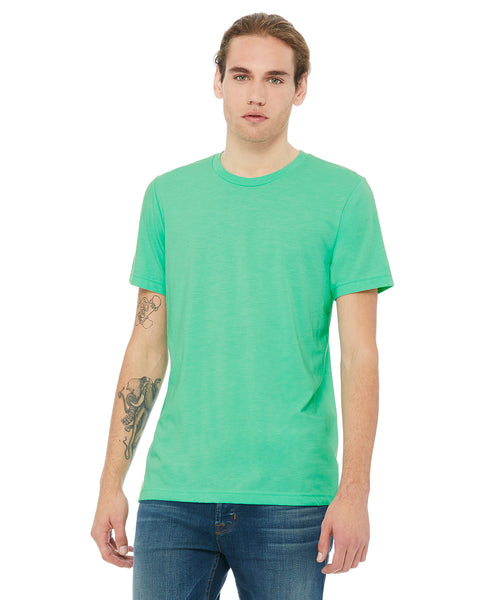 Bella + Canvas Unisex Crew Tee - Heather Mint