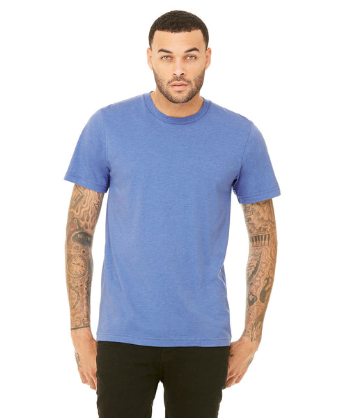 Bella + Canvas Unisex Crew Tee - Heather Columbia Blue