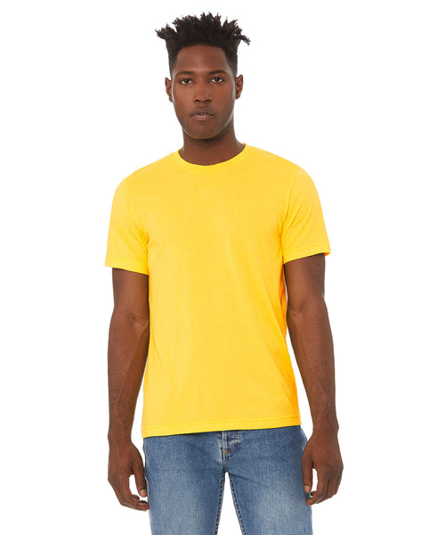 Bella + Canvas Unisex Crew Tee - Heather Yellow