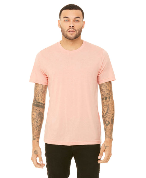 Bella + Canvas Unisex Crew Tee - Heather Peach