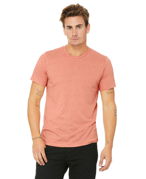Bella + Canvas Unisex Crew Tee - Heather Sunset