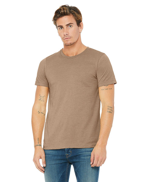 Bella + Canvas Unisex Crew Tee - Heather Tan