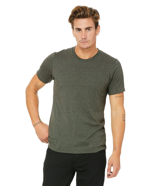 Bella + Canvas Unisex Crew Tee - Heather Military Green