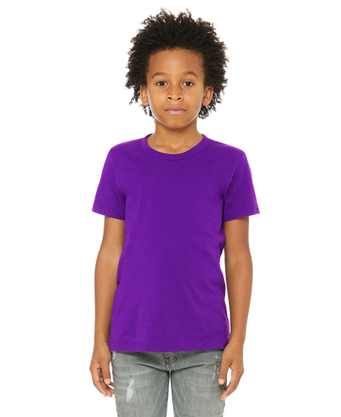 Bella + Canvas Youth Tee - Team Purple