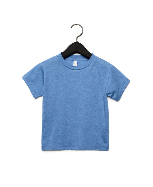 Bella + Canvas Toddler Jersey Short Sleeve Tee - Heather Columbia Blue