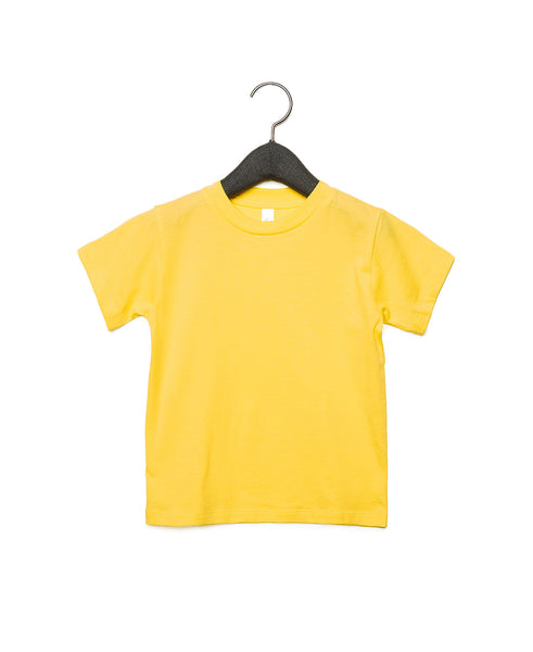 Bella + Canvas Toddler Jersey Short Sleeve Tee - Yellow