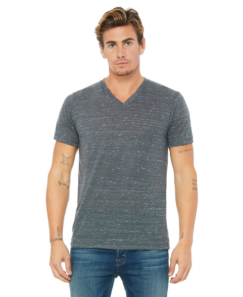 Bella + Canvas Marble VNeck - Charcoal Marble