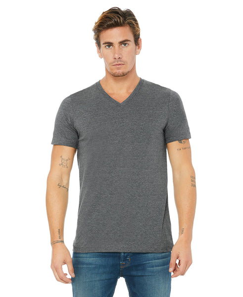 Bella + Canvas Unisex Vneck Tee - Deep Heather