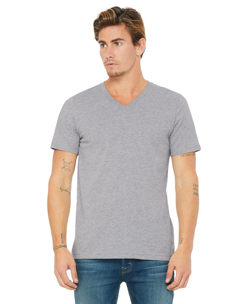 Bella + Canvas Unisex Vneck Tee - Athletic Heather