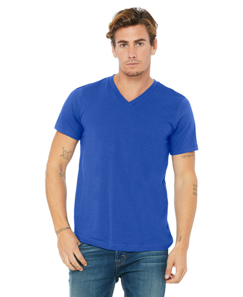 Bella + Canvas Unisex Vneck Tee - True Royal