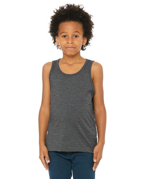 Bella + Canvas Youth Tank - Dark Grey Heather