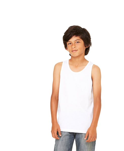 Bella + Canvas Youth Tank - White