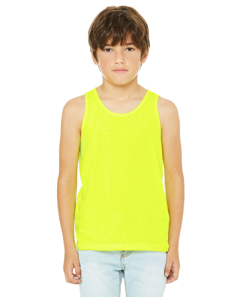 Bella + Canvas Youth Tank - Neon Yellow