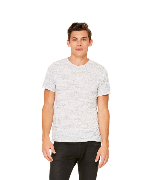 Bella + Canvas Unisex Poly-Cotton Short Sleeve Tee - White Marble