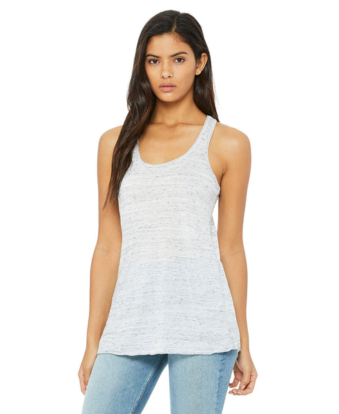 Bella + Canvas Flowy Tank - White Marble