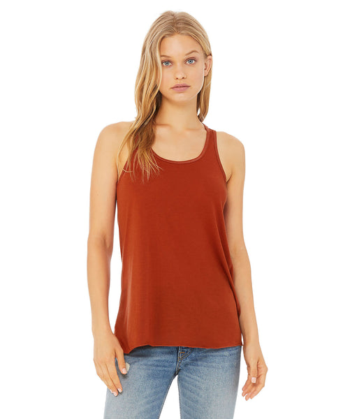 Bella + Canvas Flowy Tank - Brick
